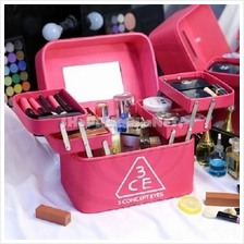 Cosmetic Make Up Box Portable 4 Tray Makeup Travel Outdoor Organizer