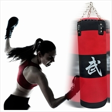 70cm Boxing Empty Punching Sand Bag with Chain Training Practice Marti..