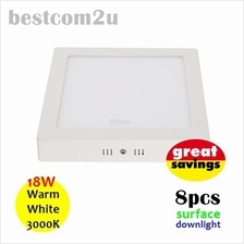 [8x] 9 Inch 18W LED Ceiling Surface Downlight (Square)