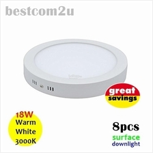 [8x] 9 Inch 18W LED Ceiling Surface Downlight (Round)