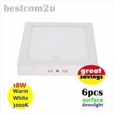[6x] 9 Inch 18W LED Ceiling Surface Downlight (Square)
