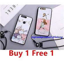 Buy 1 Free 1 @ Huawei Honor 8 Cartoon Silicone Armor Case Cover Casing