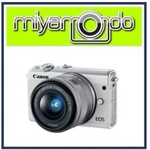 NEW Canon EOS M100 (White) With 15-45mm Lens + 8GB + Bag