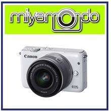 NEW Canon EOS M10 with 15-45mm (White) + 8GB + Bag