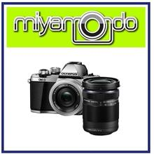 NEW Olympus E-M10 Mark II + 14-42mm + 40-150mm (Silver) + 8GB + Bag