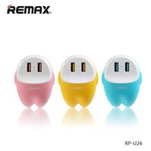 Authentic REMAX RP-U26 EVA Dual USB Port Safety Auto ID Charger ~2.4A