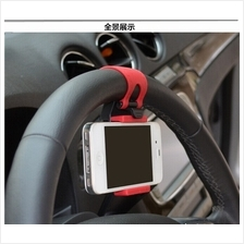 Steering Wheel Mount Mobile Phone Holder Rubber Band