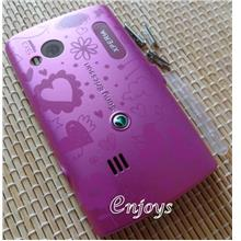 Enjoys: AP BACK HOUSING Cover Sony Ericsson Xperia X10 mini pro ~PINK