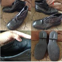**incendeo** - Authentic B0SS Black Leather Shoe for Men