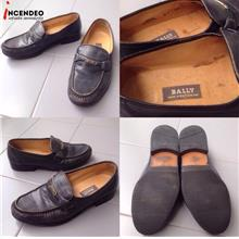 **incendeo** - Authentic B4LLY Parawet Black Leather Shoes