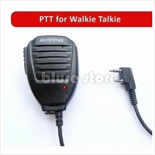 Baofeng / Kenwood PTT Handheld Walkie Talkie Mic Microphone Handsfree