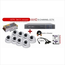 3 in 1 Latest 8 Channel AHD + DVR + NVR CCTV P2P Network HD Recorder