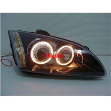 FORD FOCUS '05 Projector Head Lamp with LED Ring Black Housing