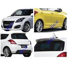 Suzuki Swift '13 Sport Body Kit PP Material Bumper+Spoiler