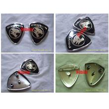 Proton Silver Base Black Tiger Front & Rear Emblem Logo