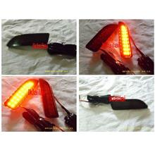 Toyota Altis 10-11 Rear Bumper Reflector Light with LED [Smoke]