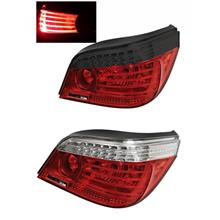 DEPO BMW E60 '03-09 LED Light Bar Tail Lamp Crystal [Clear/Red]
