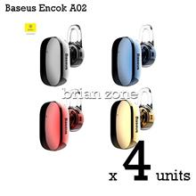 4  Units BASEUS Encok A02 Mini Wireless Bluetooth 4.1 Earphone Headset