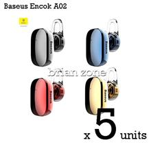 5  Units BASEUS Encok A02 Mini Wireless Bluetooth 4.1 Earphone Headset