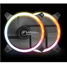 AVF GAMING FREAK HOLLO SPECTRUM 12CM RIING LED CHASSIS FAN (2PACK)