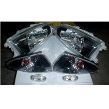 Wira Crystal Head Lamp Full Set