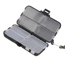 Double Sided Fishing Lures Hooks Bait Tackle Storage Box Case 9 Compar..