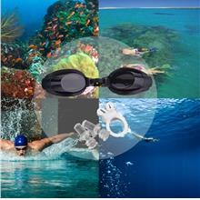 New Anti Fog UV Swimming Goggle Adjustable Glasses With Nose Clip+Ear ..