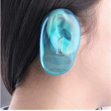 2PCS Clear Silicone Ear Cover Hair Dye Shield Protect Salon Color Blue..