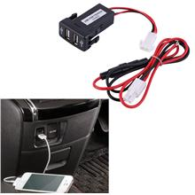 Auto Car 2.1A Dual USB Port Charger For Phone + Audio Input for Toyota..