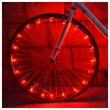 BICYCLE CYCLING COLORFUL COOL 20 LEDS SAFETY SPOKE WHEEL LIGHT BIKE AC