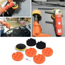 9pcs 4inch Polishing Sponge Pad M10 Drill Adapter Kit For Car Polisher