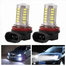 H11 Super Bright 5630 SMD 33-LED Auto Car White Fog Lamp Light Bulb Dr..