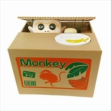 MONKEY Stealing Coin Bank Steal Money Saving Box Fun Cute Toy