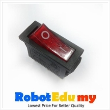 KCD 3 Rocker Switch Red LED Button (3 pin)