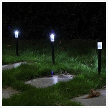 White Light LED Solar Lawn Light Garden Outdoor Landscape Path Lamp