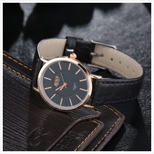BOSCK 5562 Lady's Fashion Waterproof Quartz Wrist Watch Leather Band