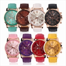 Fashion Unisex PU Genuine Leather Watches