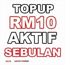 redOne prepaid top up RM10, RM30, RM50 direct reload or PIN reload