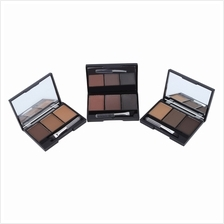 3-Color Eyebrow Powder Palette Makeup Shading With Brush Mirror Box