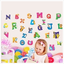 Cartoon Animal Alphabet Letter PVC DIY Wall Sticker Art Decal Home Dec..