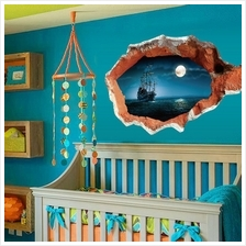 3D Broken Wall Art Mural Decal Senery Wall Stickers Home Art  Decor DI..