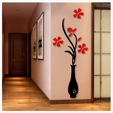 3D Acrylic Vase & Plum Pattern Room TV Backdrop Entrance Home Wall Sti..