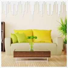 100 Piece Mirror Tile Wall Sticker 3D Decal Mosaic Room Decor Stick On..