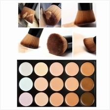 15 Colors Contour Face Cream Concealer Palette + Brush Daily Makeup To..