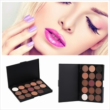15 Color Professional Cosmetic Eye Shadow Pigments Makeup Palette Matt..