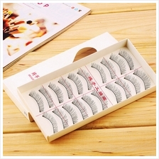 New 1set/10 Pairs Handmade Fake False Eyelash Lashes Natural Transpare..