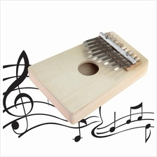 10 Keys Kalimba Mbira Likembe Sanza Thumb Piano Pine Light Yellow Inst
