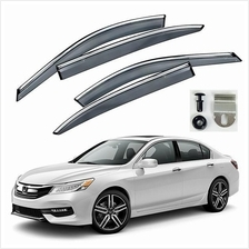 HONDA ACCORD 2013-17 Premium Chrome Lining Anti UV Light Door Visor