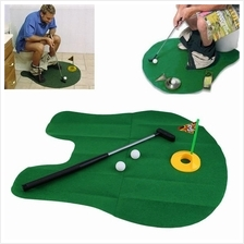 Funny Potty Putter Toilet Time Mini Golf Game Novelty Gag Gift Toy Mat