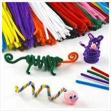 100pcs DIY Children Educational Shilly Stick Plush Materials Toys